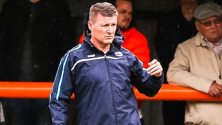 Braintree Town manager Brad Quinton, hopes to guide his side to the play-offs this weekend. PICTURE: