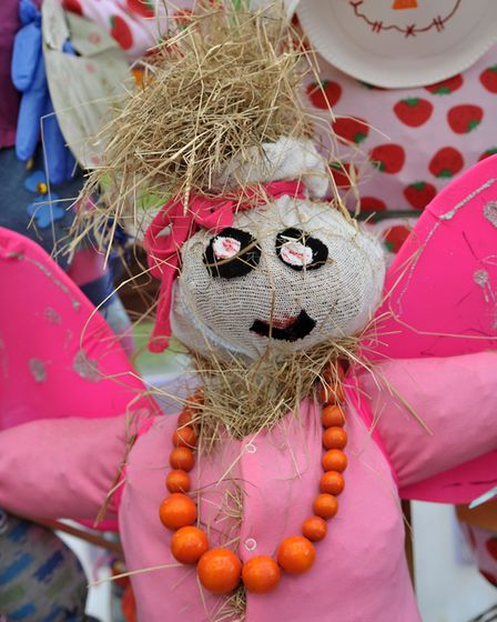 Children at Presmere Nursery School created their very own scarecrows. Picture: SARAH LUCY BROWN