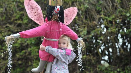 Daisy made a fairy scarecrow. Picture: SARAH LUCY BROWN