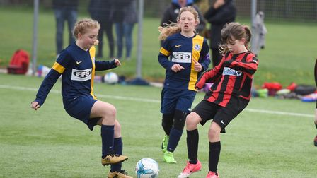 Girls football showcase event in association with the FA and Essex FA at Shrub End, Colchester. Pict