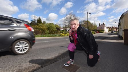 Caroline Page is hoping to get a road in Woodbridge reduced to 20 miles an hour. Picture: GREGG BROW