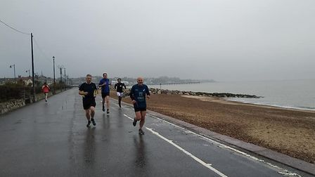 It was a grey, cool and damp day for the fourth staging of the Felixstowe parkrun. Picture: FELIXSTO