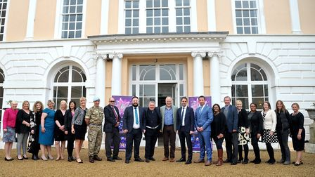 Sponsors get together at Hintlesham Hall for the launch of the Stars of Suffolk 2018. Picture: SARA