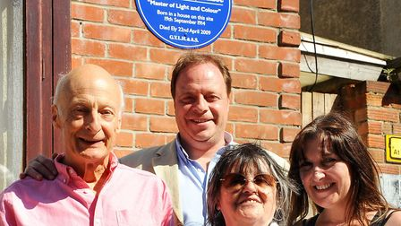 Great Yarmouth Local History & Archaeological Society blue plaque unveiling at the site of the ho