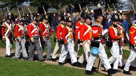 The 95th Rifles and many other Regiments take over the grounds of Ickworth Park. Picture: CONTRIBUTE