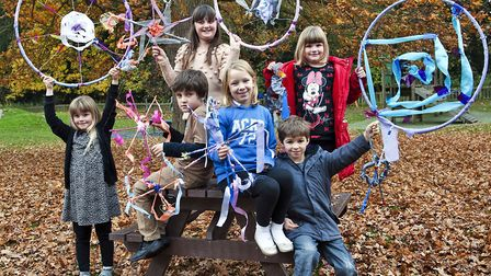 Young people at previous fairy story trail at Nowton Park, Bury St Edmunds. Picture: CONTRIBUTED