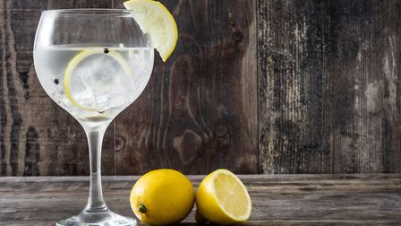 Glass of gin tonic with lemon. Picture: GETTY IMAGES/ISTOCKPHOTO