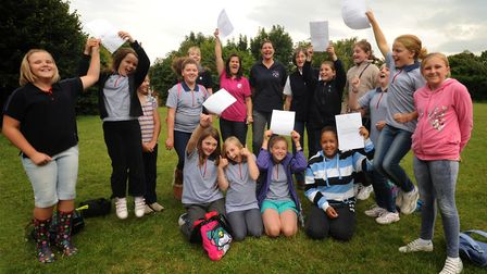 Former members of the Bramford Guides pictured in 2011. Picture: SARAH LUCY BROWN