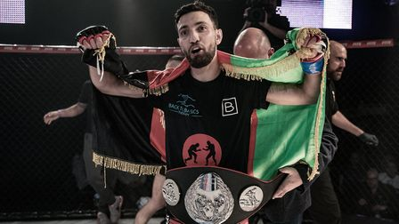 Javid Basharat moved to 5-0 as a pro and picked up the Contenders bantamweight belt with a first rou