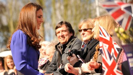 The Duchess of Cambridge visits the EACH Treehouse in Ipswich Picture: SARAH LUCY BROWN