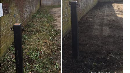 Before (l) and after levelling. Picture: CATCH 22