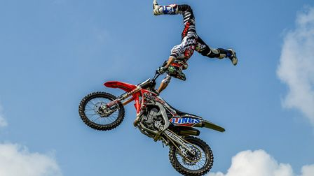 The incredible Bolddog Lings motorbike stunt team are this year's Grand Ring highlight at the Suffol
