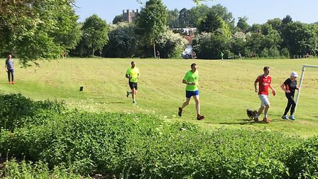 The tranquil setting for last Saturday's Great Dunmow parkrun, as runners enjoy a flat course at the