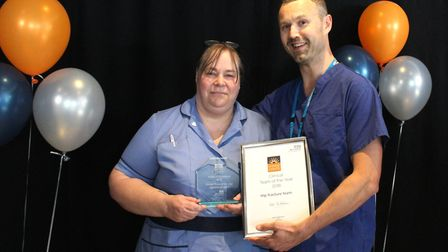 Representatives of the Clinical Team of the Year Award for Excellence from the hip fracture team.
