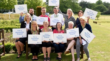 A number of the Dementia Friends from businesses across Suffolk were at the event Picture: ROB HOWAR