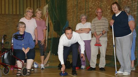 The secretary of state for culture, media and sport also had a go at new age kurling Picture: PHIL M