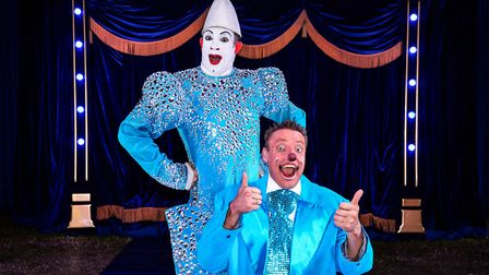 Circus Wonderland clowns Popol and Kakehole Picture: ANDREW PAYNE