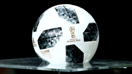 The Adidas Telstar ball which will be used as the official match ball of the 2018 FIFA World Cup Pho