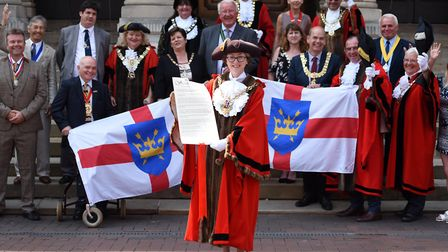 Mayors from across Suffolk got together in Ipswich to celebrate Suffolk Day. Ipswich Mayor Sarah Ba