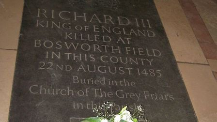 Memorial stone for Richard III. Dr Ashdown-Hill was instrumental in finding the king's remains Pictu