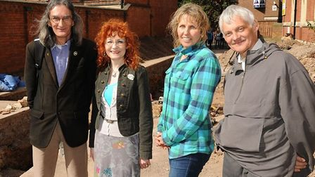 Left to right: David Johnson, Wendy Johnson, Philippa Langley and John Ashdown-Hill Picture: www.joh