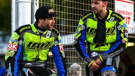 Rory Schlein (left) and Danny King, battled hard for the Witches at Peterborough, but to no avail. P
