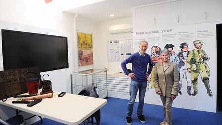 Sudbury Heritage Centre, where the relaunch is taking place. Pictured are trustees Robin Drury and P