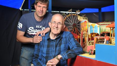 John and Martin Loades amongst the amusements Picture: SARAH LUCY BROWN