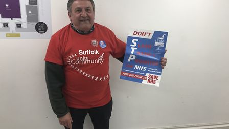 Anthony Dooley, from Suffolk Unite Community, which opposes the STP Picture: GEMMA MITCHELL