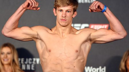 Suffolk's Arnold Allen fights Mads Burnell at UFC Liverpool this weekend. Picture: JOSH HEDGES/ZUFFA