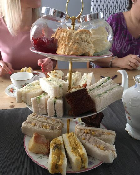 The sandwiches, cakes and scones. Picture: ELLIS BARKER