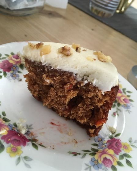 Carrot cake was one of three cakes included. Picture: ELLIS BARKER