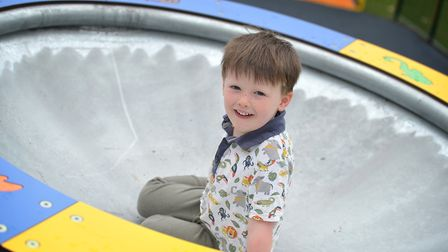 Jack having fun in the new playground Picture: SARAH LUCY BROWN