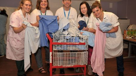 Healthcare professionals donned their pyjamas for the Launch of Ipswich Hospitals PJ Campaign Left