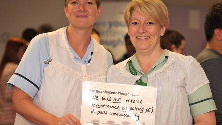 Hannah Martin and Leza Cook with their pledge Picture: SARAH LUCY BROWN