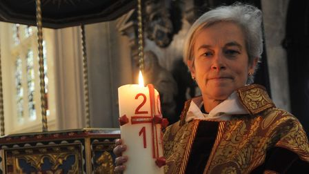 The Very Reverend Canon Dr Frances Ward in 2010 became the first female dean of St Edmundsbury Cathe