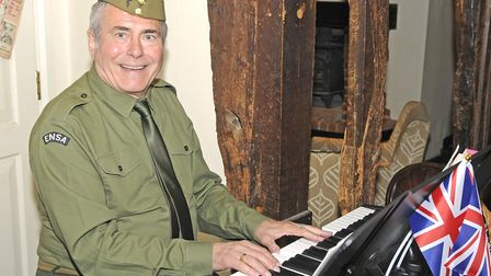 Peter Durrant pianist at The Swan at Lavenham over the vintage weekend Picture: BRYAN PANTON