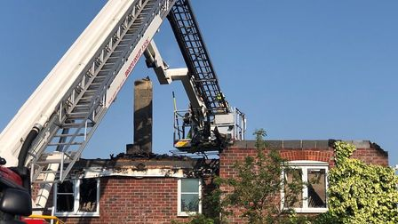 Stanway house fire. Picture: JUMBO NEWS