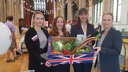 Sudbury Farmers' Market has gained the backing of Steed and Steed. From left, Laura Buller, Leigh Go
