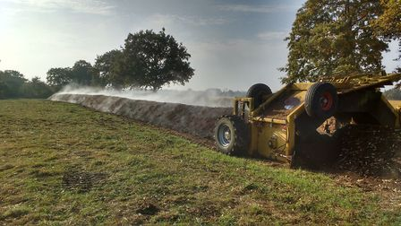 Simon Cowell uses his own home-made compost at Motts farm, St.Lawrence, Southminster, which lieson t