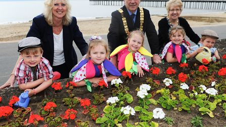 Felixstowe mayor and mayoress Graham and Janet Newman with Sue Faversham, from Felixstowe Town Counc