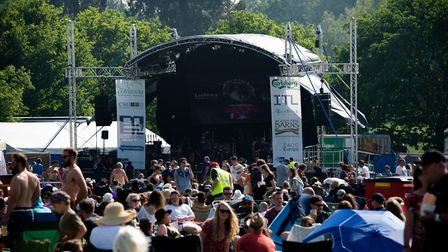 The stage at LeeStock Picture: ALLISON BURKE