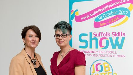From left, Michelle Pollard, deputy chair, and Dayle Bayliss, chair of the Suffolk Skills Show Pictu
