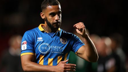 Stefan Payne is Shrewsbury's top-scorer this season. He too comes from a non-league background. Phot