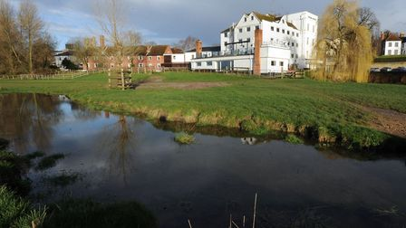 Sudbury Water Meadows. The view of the Mill Hotel Picture: PHIL MORLEY