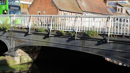 The listed North Bridge, which will be refurbished should the project go ahead. Picture: COLCHESTER