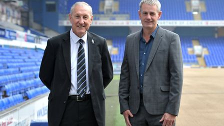 Terry Butcher and Mark Robson at Portman Road Picture: SARAH LUCY BROWN