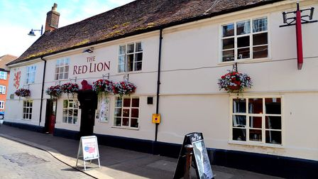The Red Lion in Woodbridge. Picture: SIMON PARKER