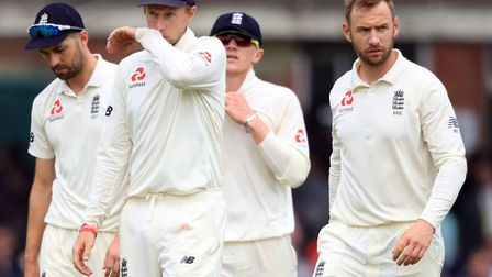 England captain Joe Root trudges off with his side after they were humbled by Pakistan last week. Pi