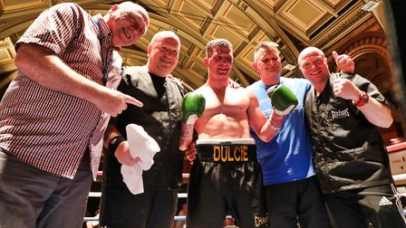 Joe Hurn celebrates another win with his team at the Ipswich Corn Exchange. Picture: GEOFF SMITH/TOP